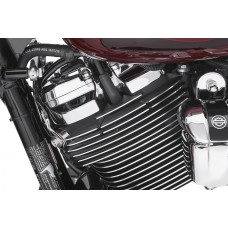 Spark plug & head bolt cover - Finned wrinkle black