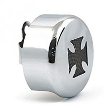 Horn cover - Chrome with black cross