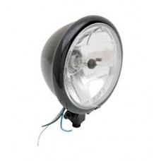 14.5cm diamond style headlight with black housing