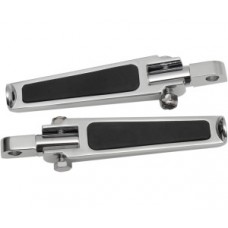 Stud mount chrome footpegs with rubber inlay