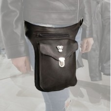 Leather leg bag