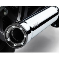 Cobra 3'' Race PRO slip-on mufflers - Chrome for Softail
