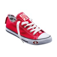 West Coast Choppers canvas Sneakers - Red/White
