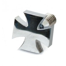 Maltese cross - Seat Bolt for H-D (chrome)